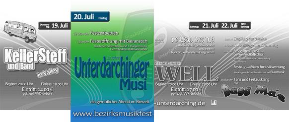 Programm für den Freitag - 16. Bezirksmusikfest Unterdarching 2012