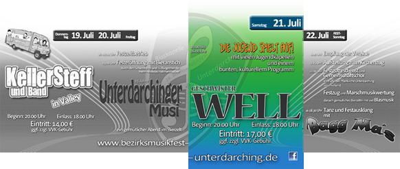 Programm für den Samstag - 16. Bezirksmusikfest Unterdarching 2012