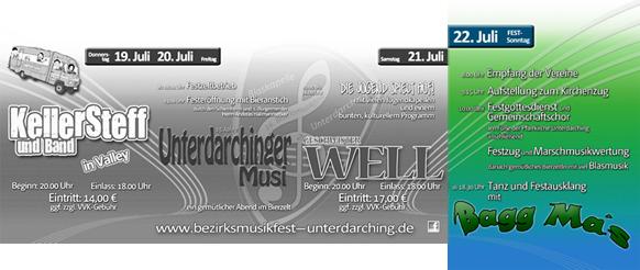 Programm für den Sonntag - 16. Bezirksmusikfest Unterdarching 2012