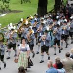 Marschmusik beim Bezirksmusikfest am Festsonntag