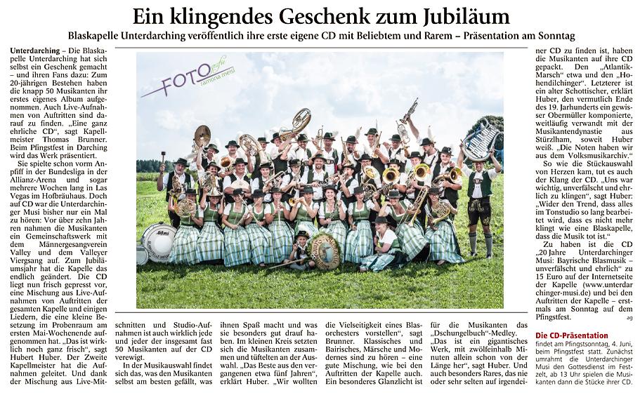CD-Unterdarchinger-Musi - Präsentation