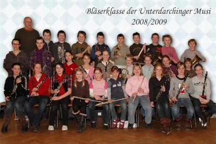 Bläserklasse der Unterdarchinger Musi 2008/2009