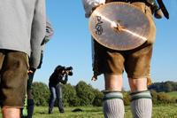 Fotoshooting der Unterdarchinger Musi