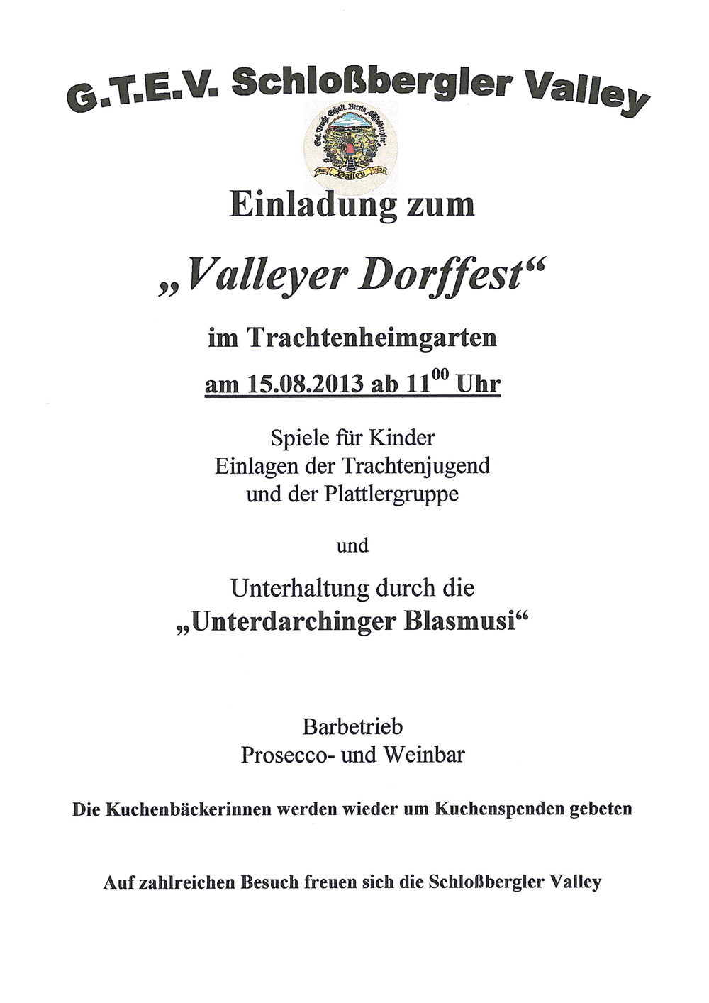 Valleyer Dorffest 2013