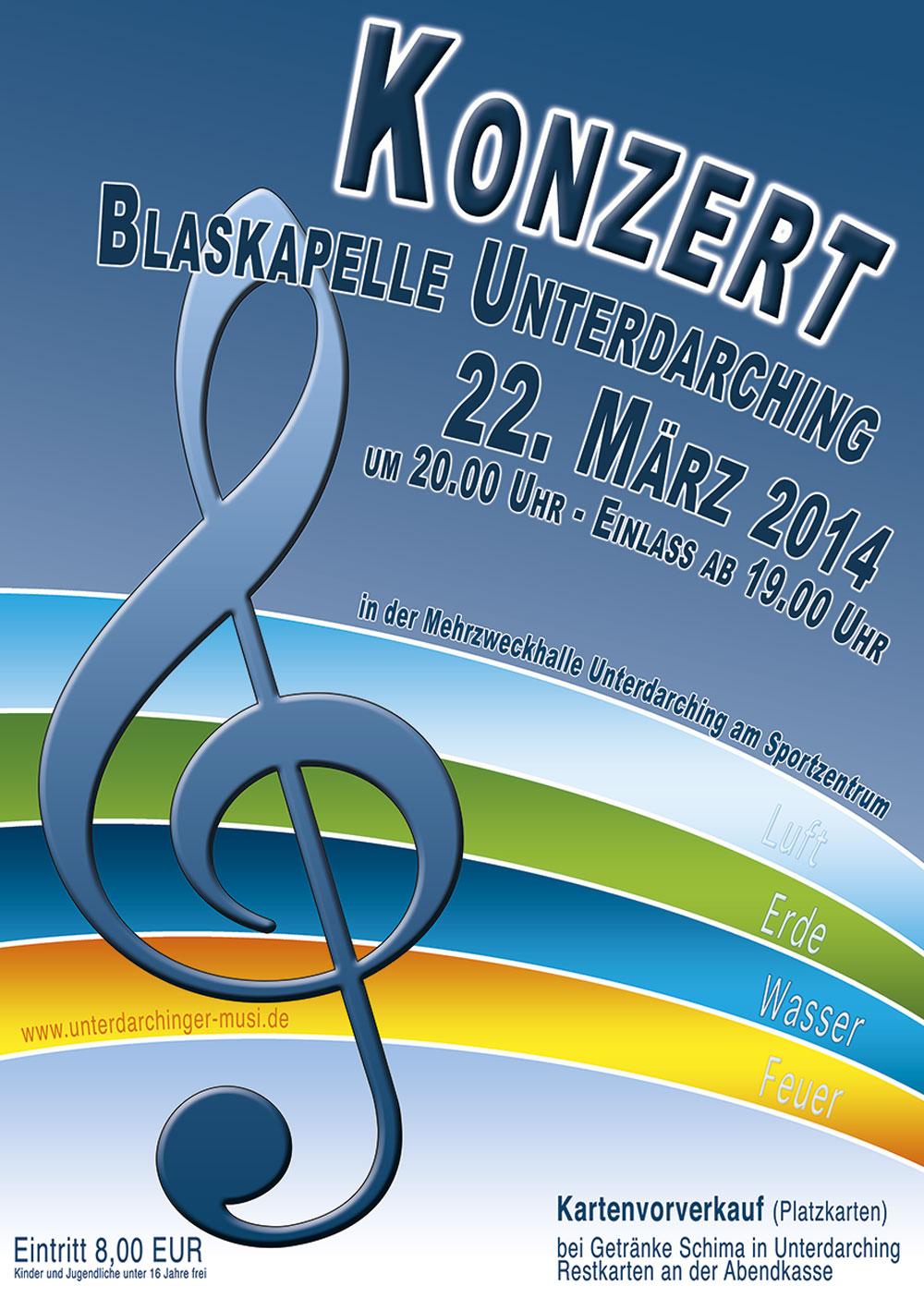 Plakat zum Konzert 2014
