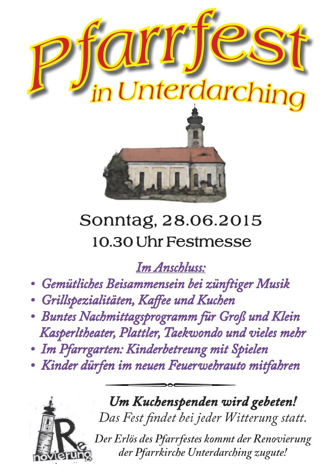 Pfarrfest-Unterdarching