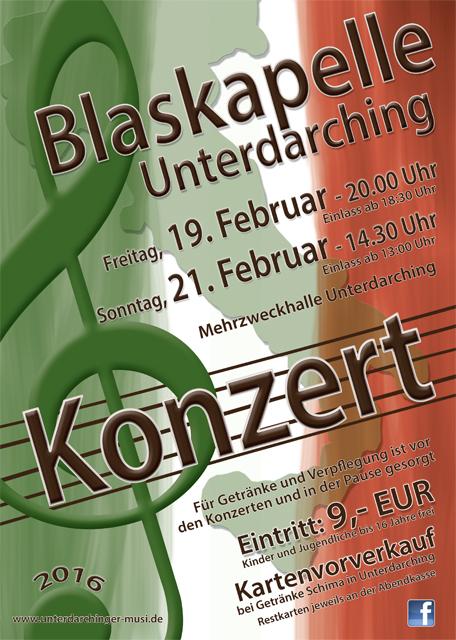 Konzert der Unterdarchinger Musi 2016