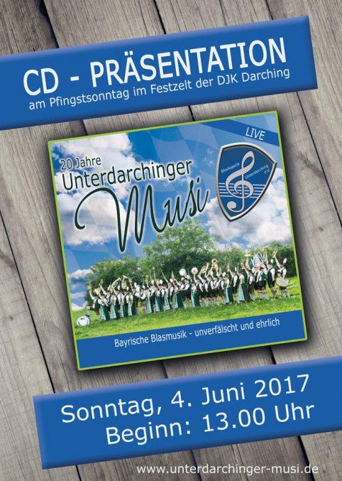 CD Unterdarchinger Musi, CD Blaskapelle Unterdarching e.V., CD Blasmusik, CD Blaskapelle, CD Blasmusi, CD, CD Cover Blasmusik, Blasmusik CD