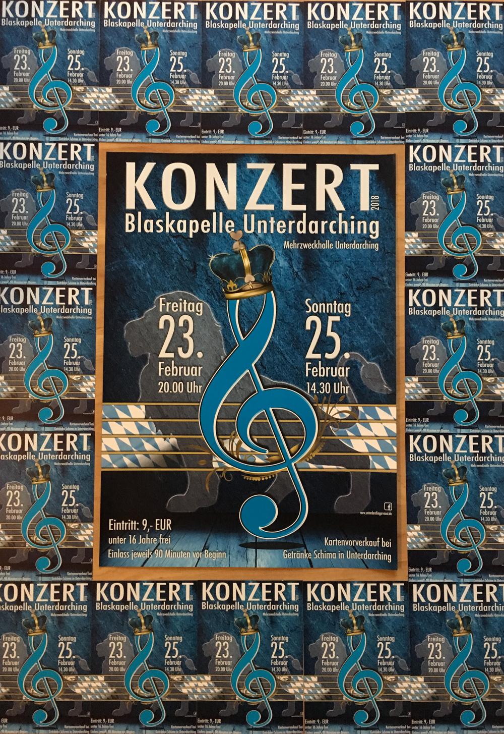 Plakat Konzert Unterdarchinger Musi