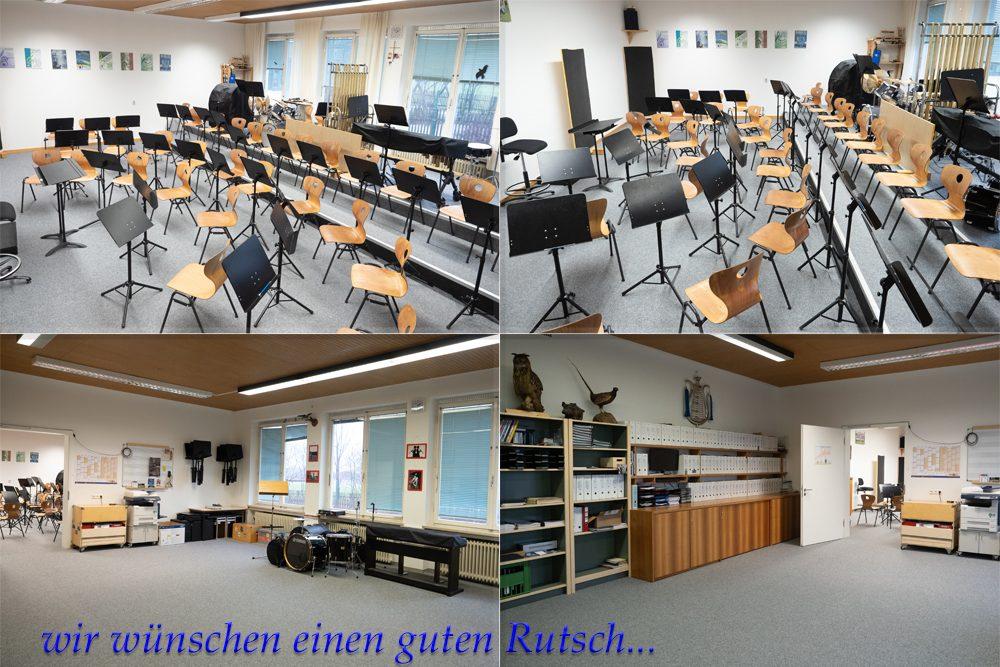 Proberaum, Probenraum, Übungsraum, Unterrichtszimmer, Unterrichtsraum, Blaskapelle, Jugendkapelle, Kapelle, Blasmusik, Musikverein, Unterdarchinger Musi