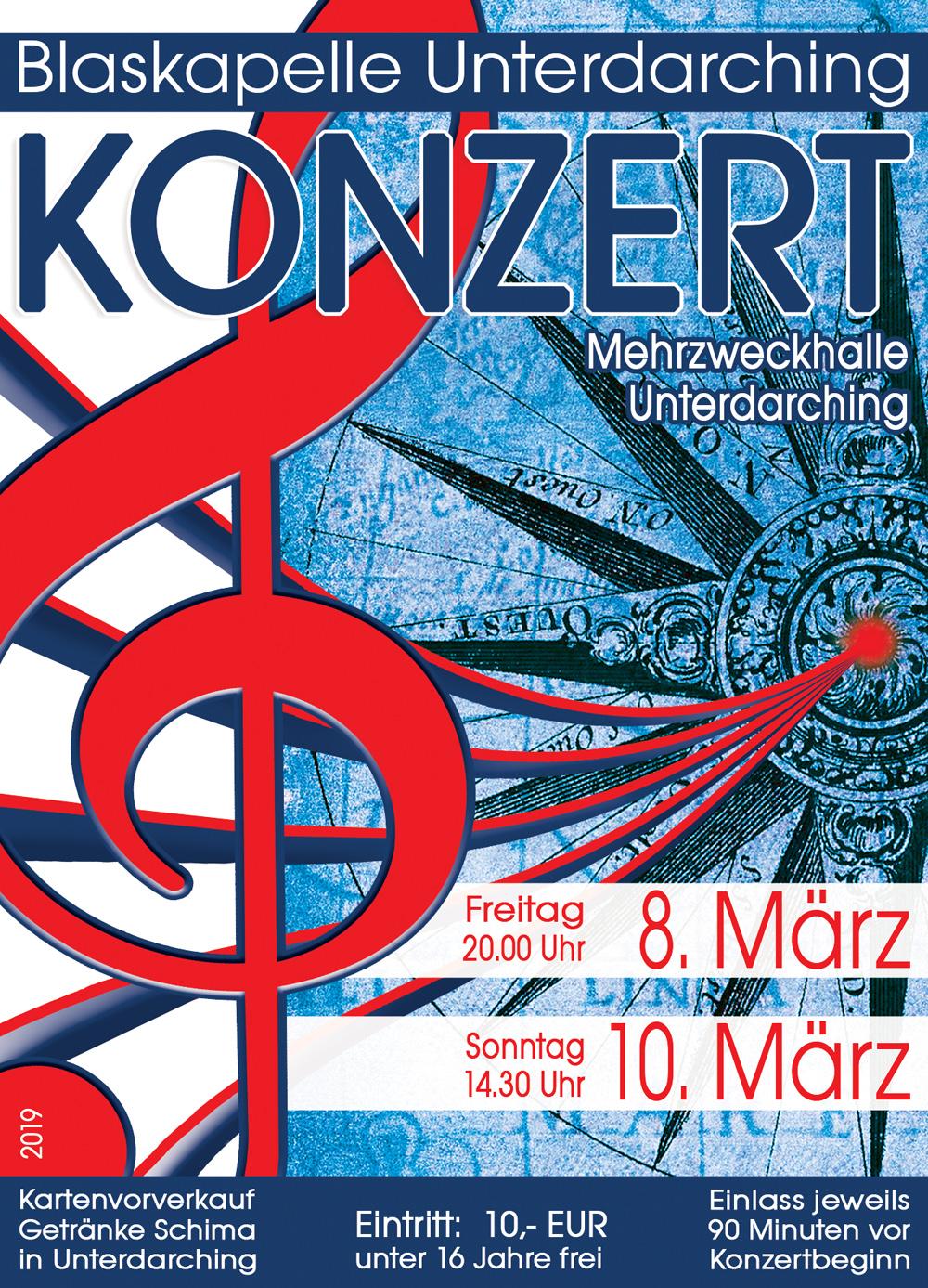 Konzert 2019 - Blaskapelle Unterdarching
